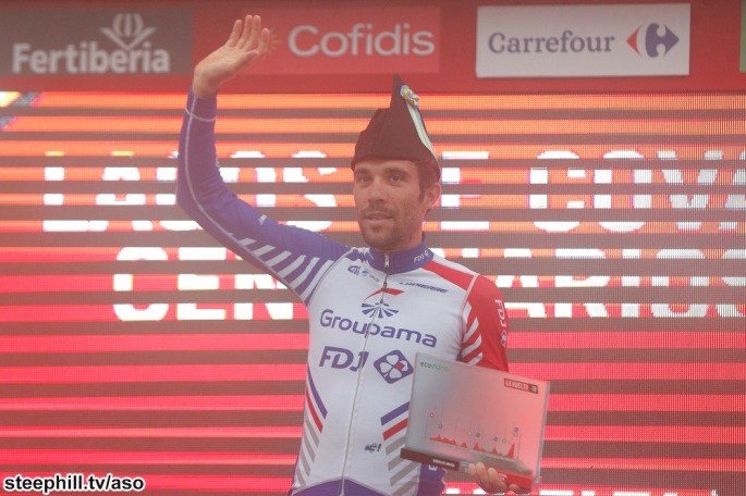 Asturias hat for the Stage 15 winner Thibaut PINOT